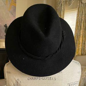 Free People Black Wool Hat